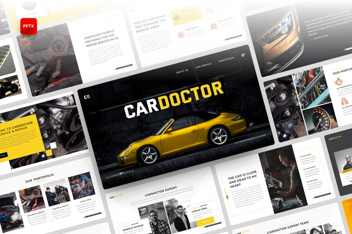 Thumbnail for Cardoctor-Car Service PowerPoint Template