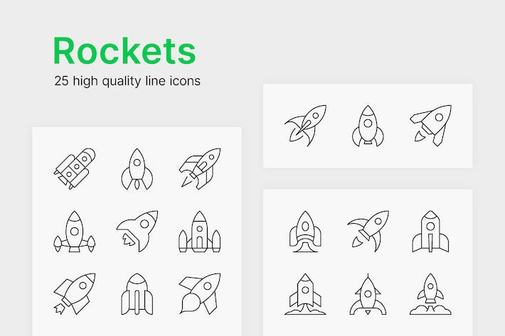 Thumbnail for Rocket Icons