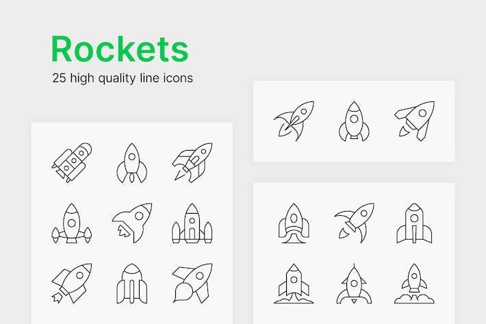 Rakete-Icons
