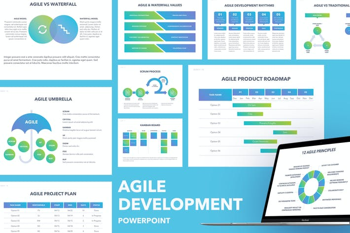 Thumbnail for Agile Development PowerPoint Template