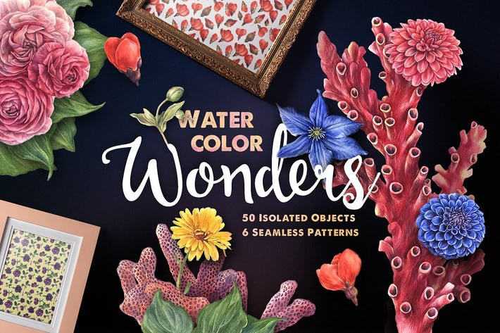 Thumbnail for Watercolor Wonders Graphic Kit