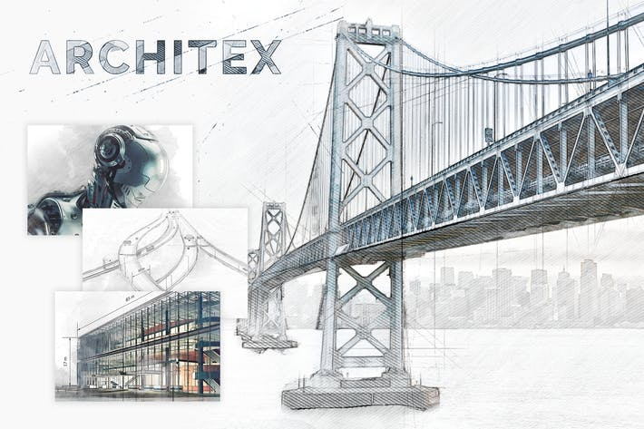 Thumbnail for Architex CS3+ Photoshop Action