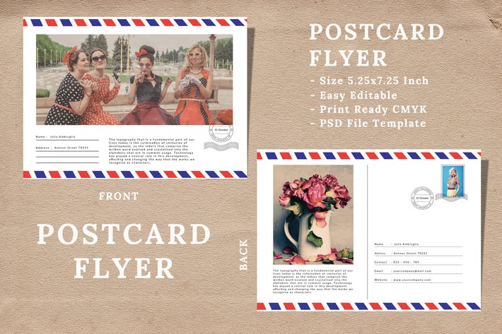 Cover Image For Vintage Postcard Flyer Vol 02
