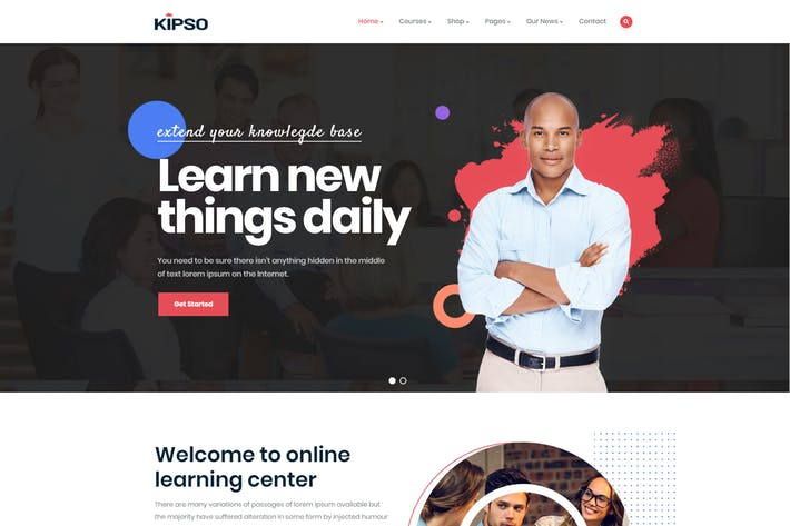 Thumbnail for Kipso - Education LMS WordPress Theme