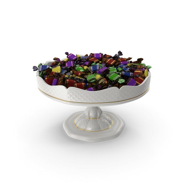 Fancy Porcelain Bowl with Toffee Candy
