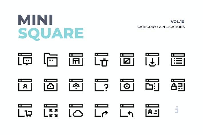 Thumbnail for Mini cuadrado - 60 Aplicaciones Íconos