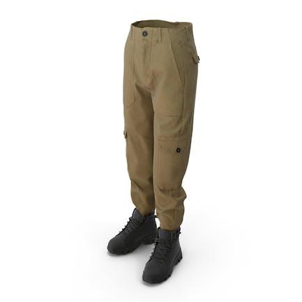 Damen Stiefel Pants Mix
