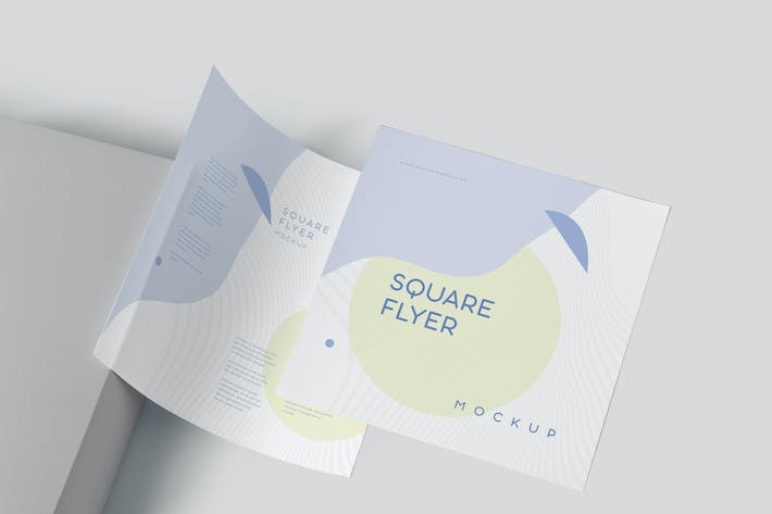 Square Shape Promotional Flyer Mockups