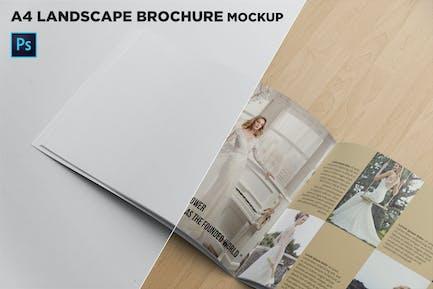 Landscape Brochure Mockup Left Closeup
