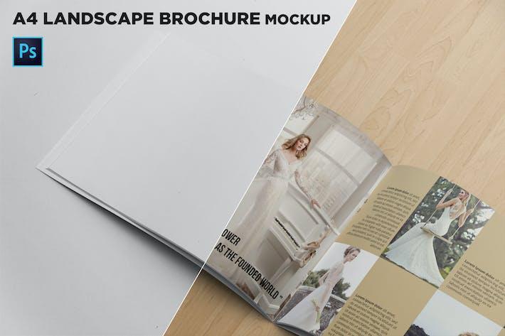 Thumbnail for Landscape Brochure Mockup Left Closeup