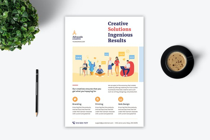 Cover Image For Creative Agency Flyer - 3