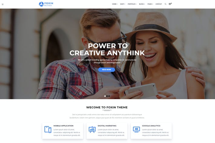 Thumbnail for Foxin - Responsive Business WordPress Theme