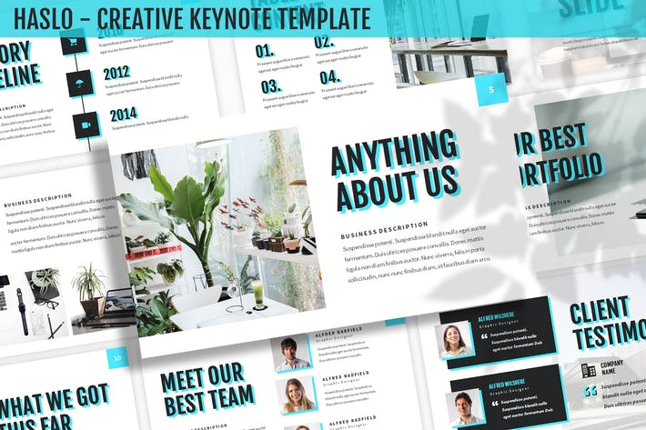 Cover Image For Haslo - Creative Keynote Template