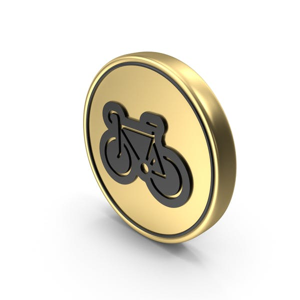Bicycle Sport Coin Logo Icon