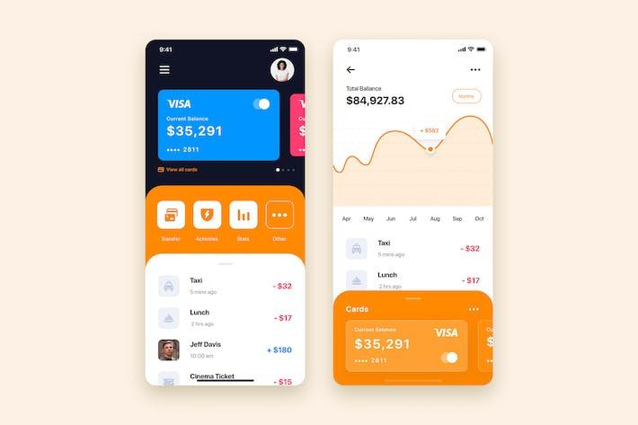 Thumbnail for Mobile Wallet App UI Kit Template