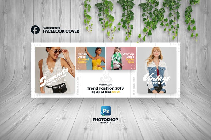 Thumbnail for GoShop - Fashion Store Facebook Cover Template