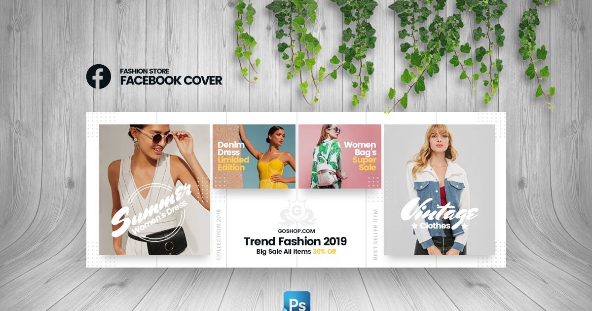 Download GoShop - Fashion Store Facebook Cover Template by youwes