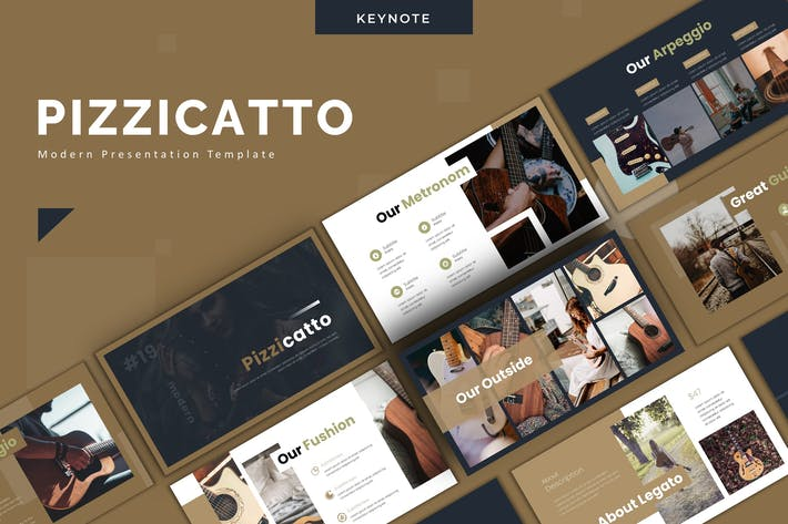 Thumbnail for Pizzicatto - Keynote Template