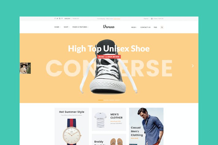 Thumbnail for Verona - eCommerce PSD Template