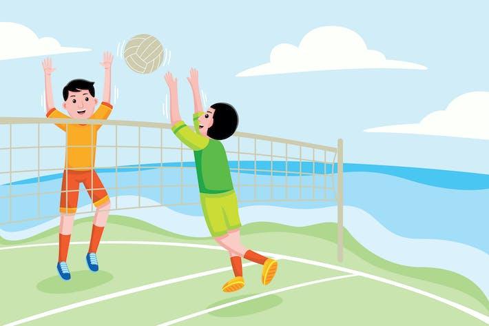 Thumbnail for BeachvolleyballVektor Illustration Vol. 1