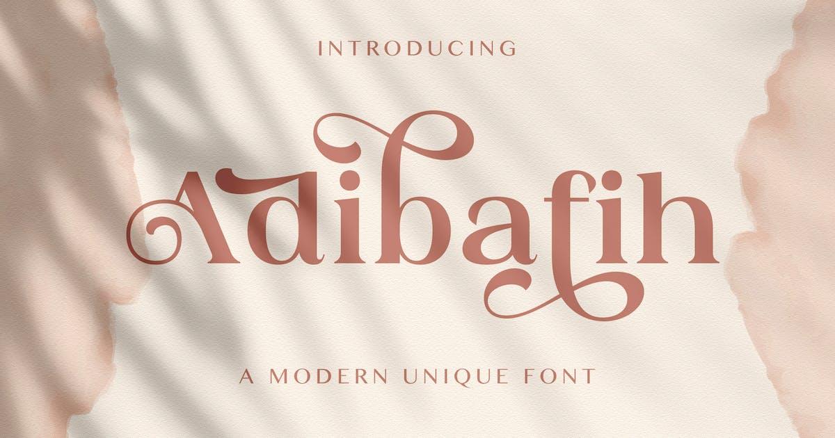 Download Adibafih - Casual Serif Font by StringLabs