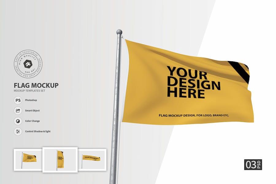 Flag vol.01 - Mockup Set FH