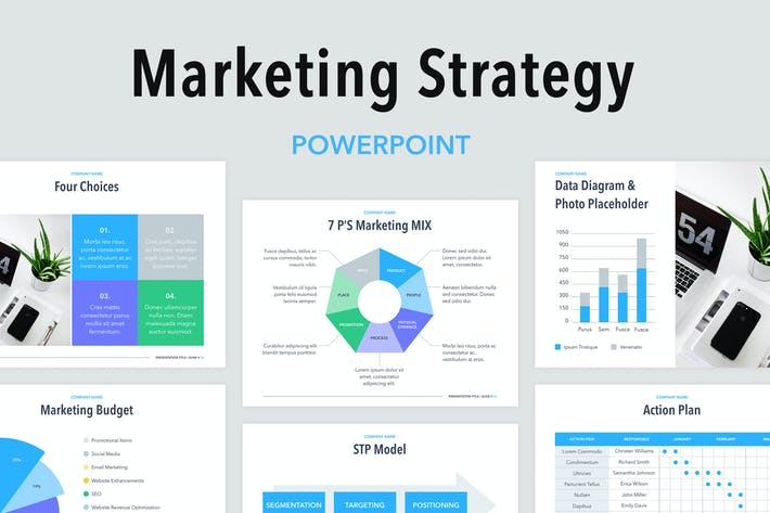 Thumbnail for Marketing Strategy PowerPoint Template