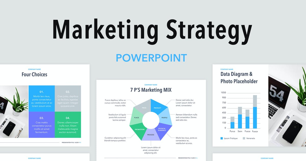 Download Marketing Strategy PowerPoint Template by Jumsoft