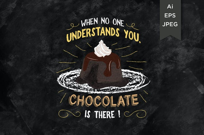 Thumbnail for when no one understand you chocolat is there