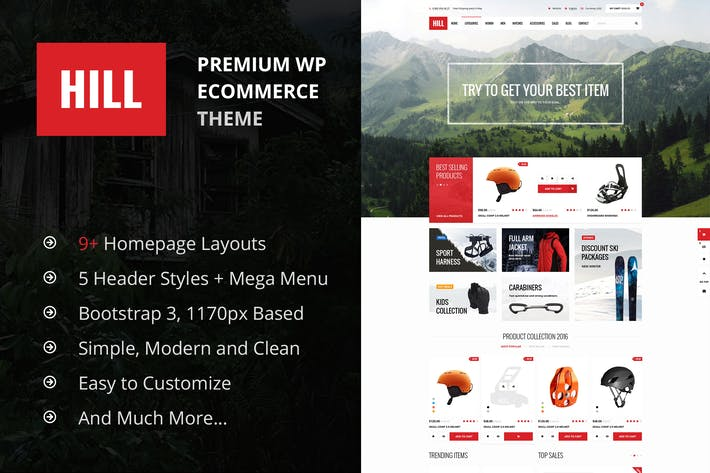 Cover Image For HILL - Premium Responsive WooCommerce Theme