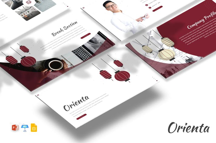 Orienta - Powerpoint / Google Slides / Keynote
