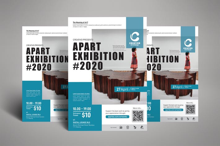 Thumbnail for Art Exhibition Poster Flyer