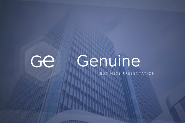 Cover Image For Genuine Business Presentation