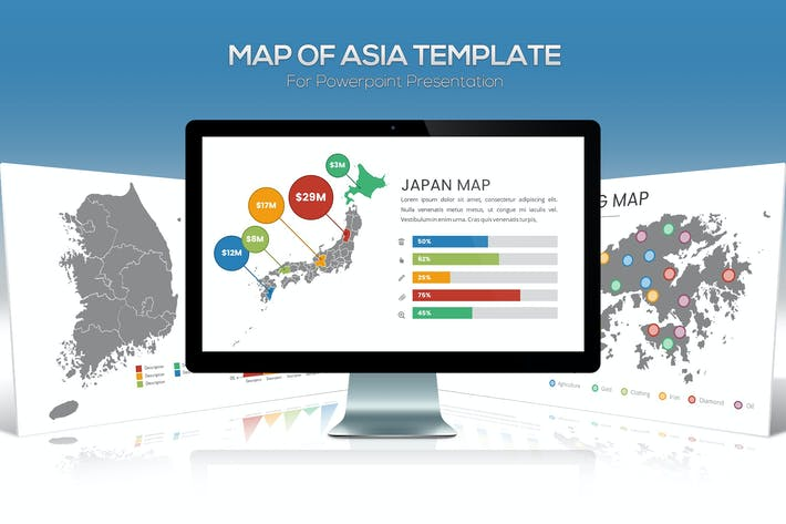 Thumbnail for Asia Maps for Powerpoint Presentation