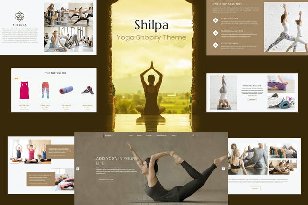 Shilpa - Yoga Store & Fitness Shopify Theme