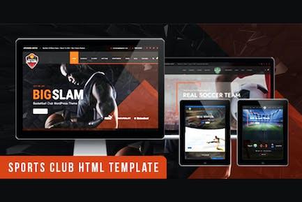 BigSlam Sport Clubs- HTML Template