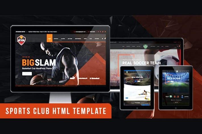 Thumbnail for BigSlam Sport Clubs- HTML Template