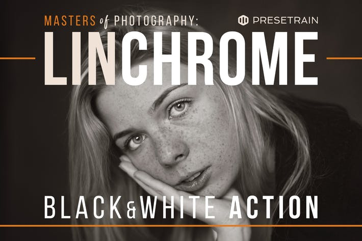 Thumbnail for Linchrome Black & White Photoshop Action