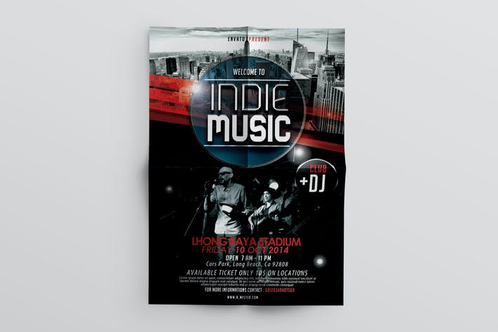 Thumbnail for Indie Fest music Flyer Template