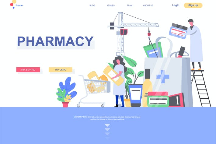 Thumbnail for Pharmacy Landing Page Template