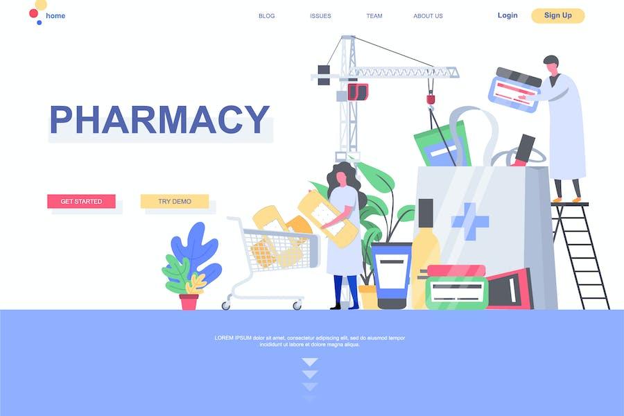 Modèle de page de destination Pharmacie