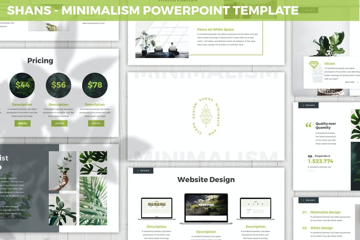 Thumbnail for Шаны - Минимализм Powerpoint Шаблон