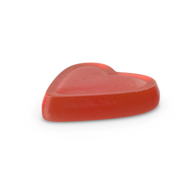 Gummy Heart Candy Red