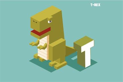T für T-Rex, Tieralphabet