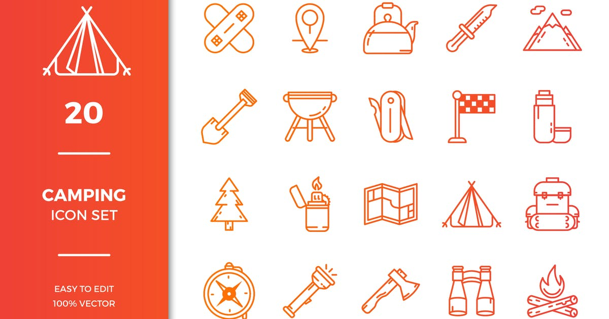 Download Camping Icon Collection by EightonesixStudios