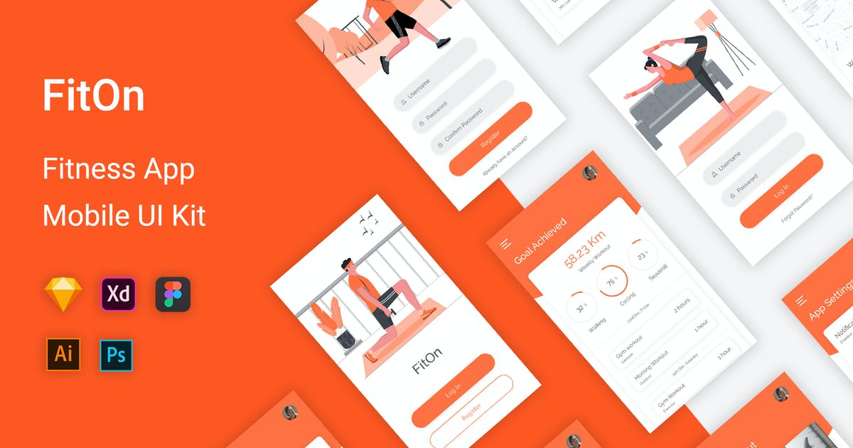 Download FitOn Fitness UI Kit Mobile App by themepassion