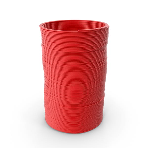 Thumbnail for Plastic Slinky Toy Spring Red