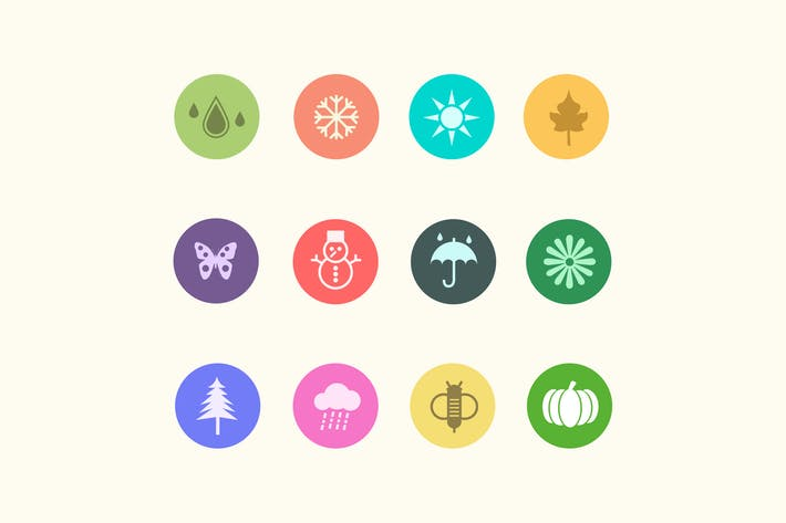 Thumbnail for 12 Season and Weather Icons