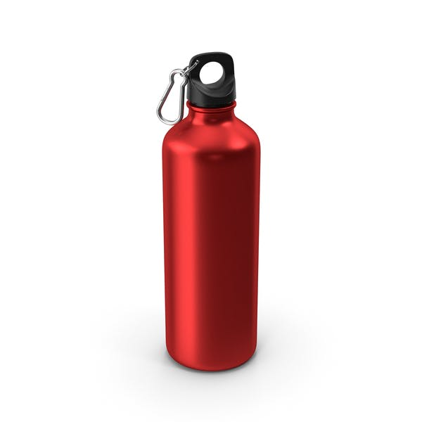 Water Bottle Red Metal