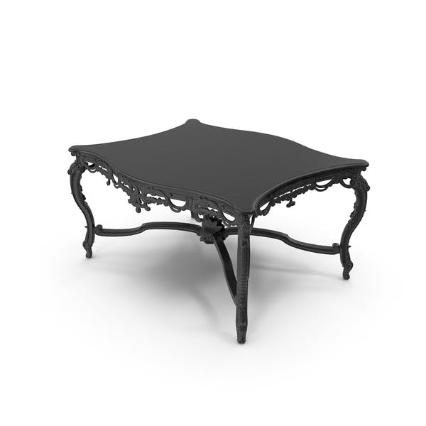 Black Baroque Coffee Table